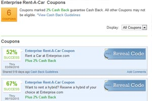 Enterprise Car Rental Unlimited Mileage Coupon